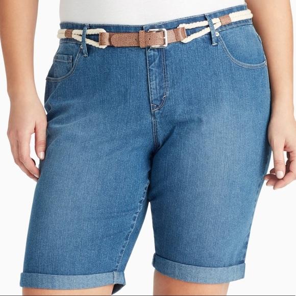 e1a9a3dfaa Gloria Vanderbilt Shorts | Belted Bermuda Jean | Poshmark